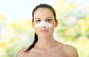Bandage on Nose,